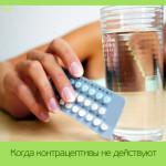Когда контрацептивы не действуют