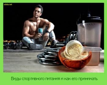 Виды спортивного питания и как его принимать